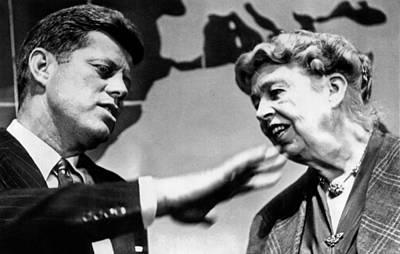 Eleanor Roosevelt And Sen. John Kennedy Poster by Everett