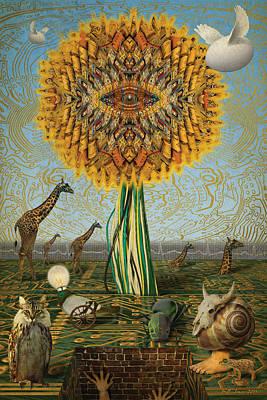 Electric Sunflower Poster by Bill Jonas