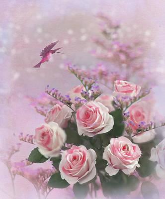 Elegant Roses-1 Poster by Nina Bradica