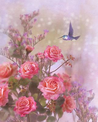 Elegant Roses-2 Poster by Nina Bradica