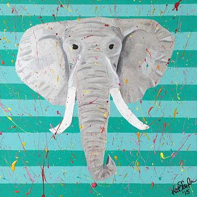 Elephant Poster by Kat Smith