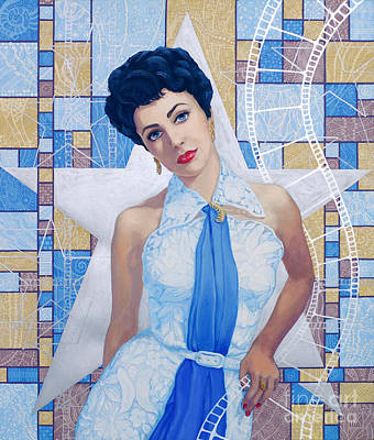 Elizabeth Taylor  Poster by Julia Khoroshikh