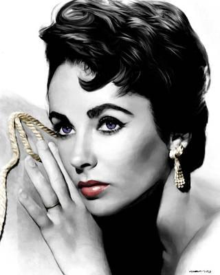 Elizabeth Taylor Portrait Poster by Gabriel T Toro