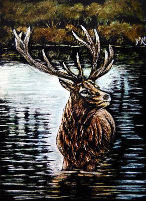 Elk Lake Poster by Monique Morin Matson