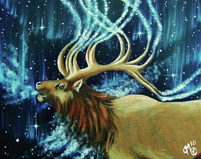 Elk Spirit Poster by Christina Marin