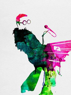 Elton Watercolor Poster by Naxart Studio