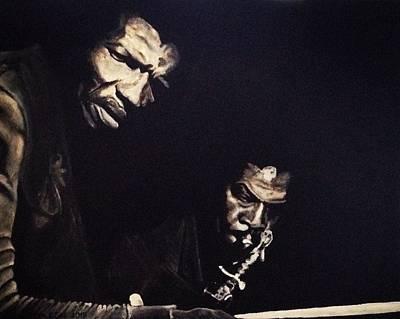 Elvin Jones And George Coleman Poster by Jennifer Wrobleski