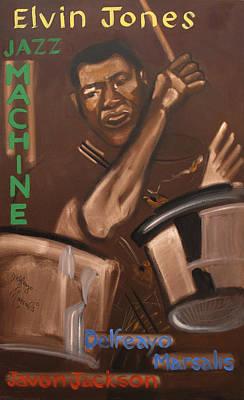 Elvin Jones Jazz Machine Poster by Suzanne Giuriati-Cerny