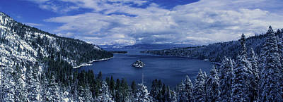 Emerald Bay First Snow Poster by Brad Scott
