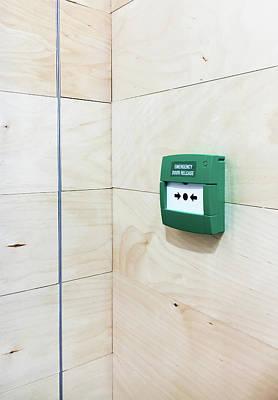 Emergency Door Release Poster by Tom Gowanlock