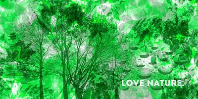 Emotional Art Love Nature Panoramic Poster by Melanie Viola