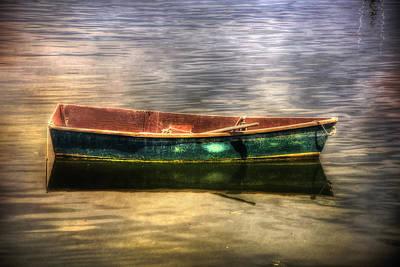 Empty Docked Rowboat Poster by Joann Vitali