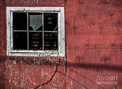 Empty Panes In A Rustic Barn Poster by James Aiken