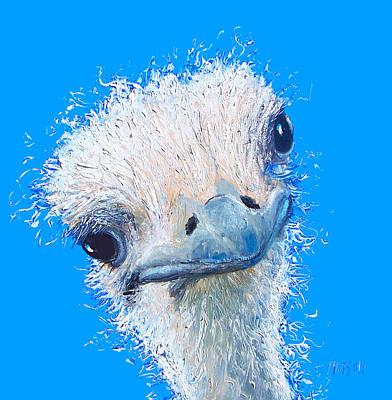Emu Painting Poster by Jan Matson