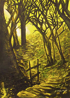 Enchanted Emerald Forest Poster by Emma Childs