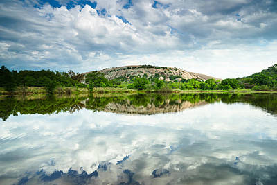 Enchanted Rock On A Cloudy Day - Texas Poster by Ellie Teramoto
