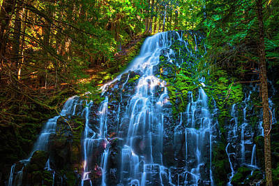 Enchanting Ramona Falls Poster by Dee Browning