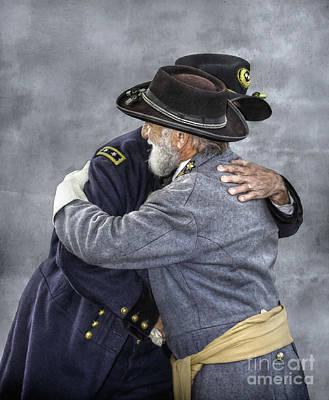 Enemies No Longer Civil War Grant And Lee Poster by Randy Steele
