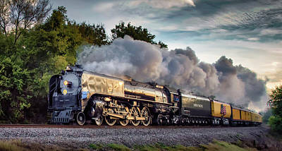 Engine 844 At The Dora Crossing Poster by James Barber