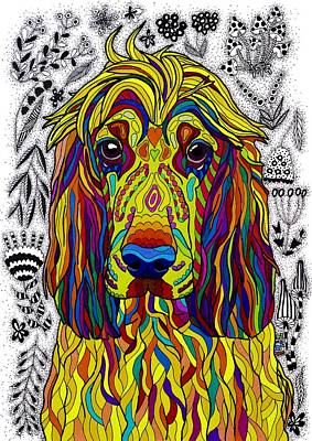 English Cocker Spaniel Poster by Pet Coloring Pages
