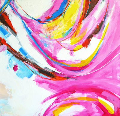 Entangled No. 8 - Right Side - Abstract Painting Poster by Patricia Awapara