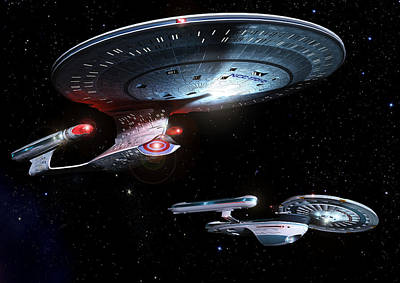 Enterprise Meeting The Admiral Poster by Joseph Soiza