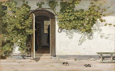 Entrance To An Inn In The Praestegarden At Hillested Poster by Celestial Images