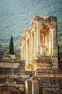 Ephesus - Library Of Celsus Poster by HD Connelly