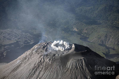 Eruption At Summit Of Santiaguito Dome Poster by Richard Roscoe