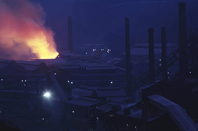 Europe Steel Plant In Europe, Dusk Poster by Keenpress