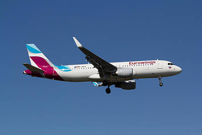 Eurowings Airbus A320 Poster by David Pyatt