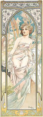 Eveil Du Matin Poster by Alphonse Marie Mucha