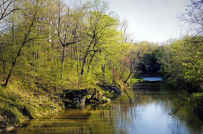 Evening Falls On Cedar Creek Poster by Cricket Hackmann