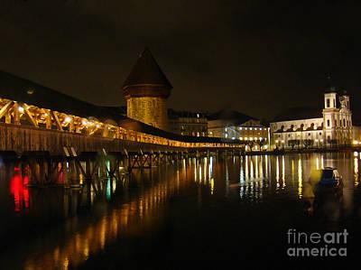 Evening In Luzern Poster by Al Bourassa