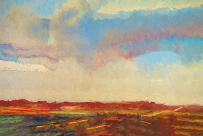 Evening Landscape Poster by Impressionist Art