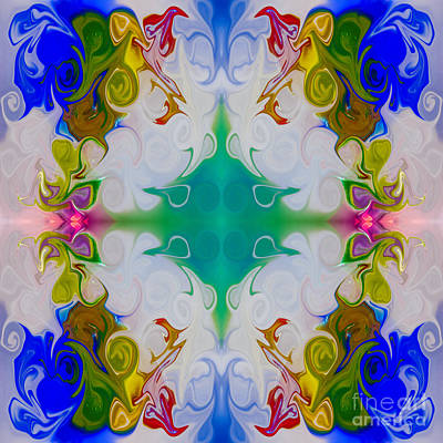 Exploring Life's Mysteries Abstract Pattern Artwork By Omaste Wi Poster by Omaste Witkowski