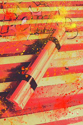 Explosive Comic Art Poster by Jorgo Photography - Wall Art Gallery