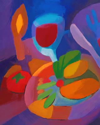 Expressive Dinner Poster by Lutz Baar