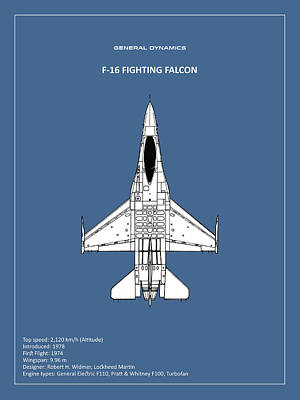 F-16 Fighting Falcon Poster by Mark Rogan