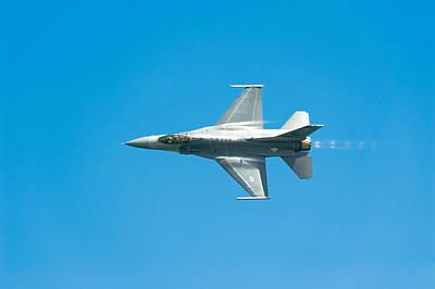F-16 Full Speed Poster by Sebastian Musial