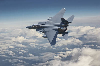 F15 - E  Strike Eagle Poster by Pat Speirs