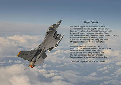F16 - High Flight Poster by Pat Speirs