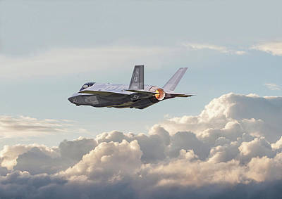 F35 -  Into The Future Poster by Pat Speirs