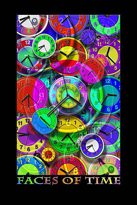Faces Of Time 1 Poster by Mike McGlothlen