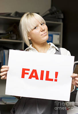 Fail Poster by Jorgo Photography - Wall Art Gallery
