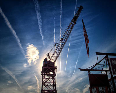 Fairfield Shipyard Whirley Crane Poster by Bill Swartwout