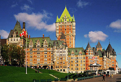 Fairmont Le Chateau Frontenac Poster by Juergen Weiss