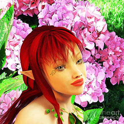 Fairy Portrait Poster by Methune Hively