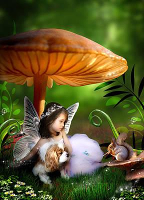 Fairy Woodland Poster by Julie L Hoddinott
