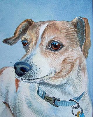Beloved Dog Commission By Irina Sztukowski  Poster by Irina Sztukowski